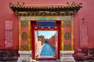 Eingangstor in der Verbotenen Stadt in Peking