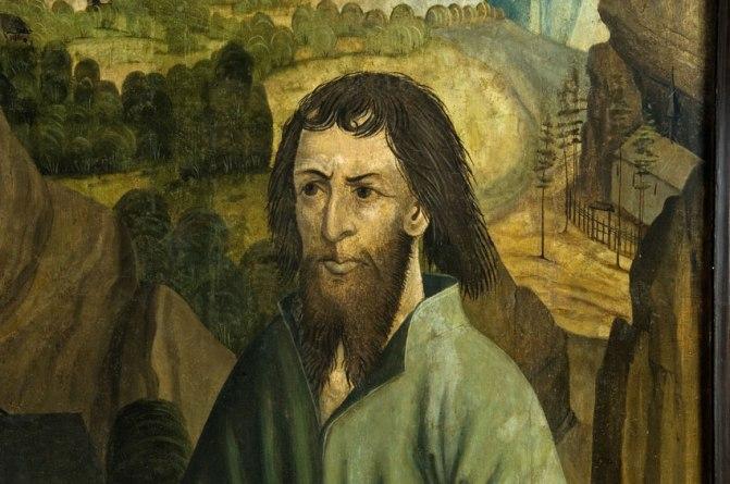 Gemaltes Porträt des hl. Niklaus von Flüe
