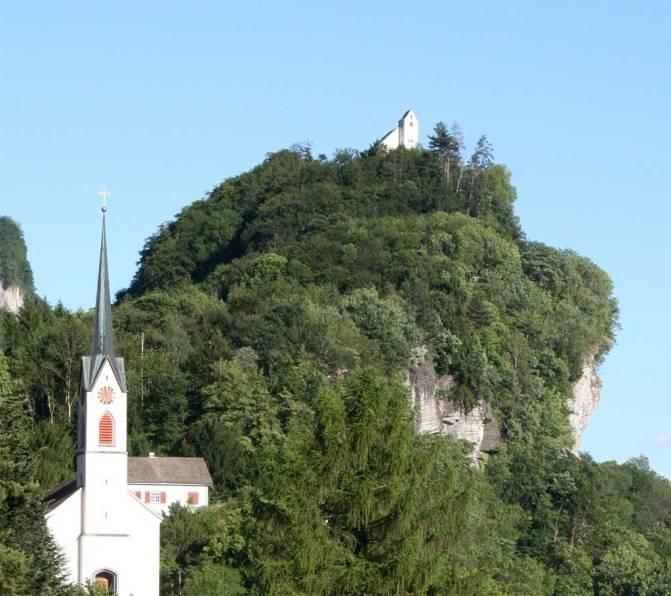 Kirche von Berschis und St.-Georg-Kapelle