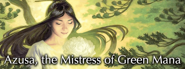 Azusa, the Mistress of Green Mana - magic facetofacegames com