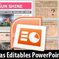 Plantillas de Periódicos Editables en PowerPoint Gratis