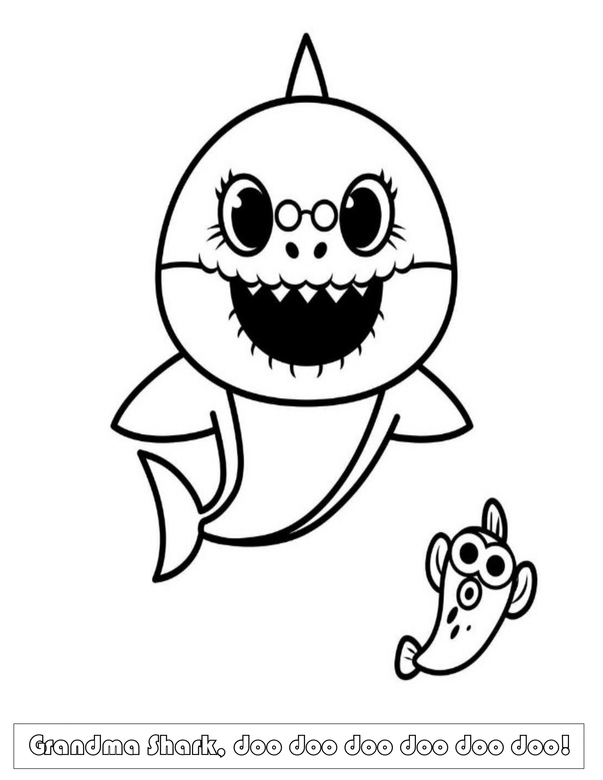 Black And White Baby Shark : black, white, shark, Shark, Craft!, Magical, Beginnings