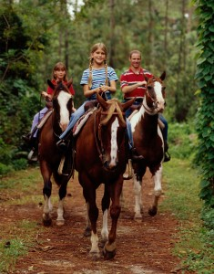 Horseback riding at Fort Wilderness Resort