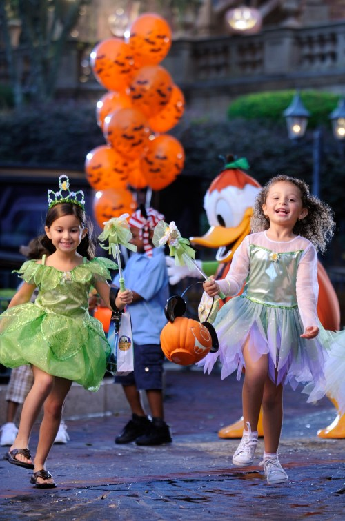 Trick or Treating at Mickey's Not So Scary Halloween Party; Photograph by Kent Phillips