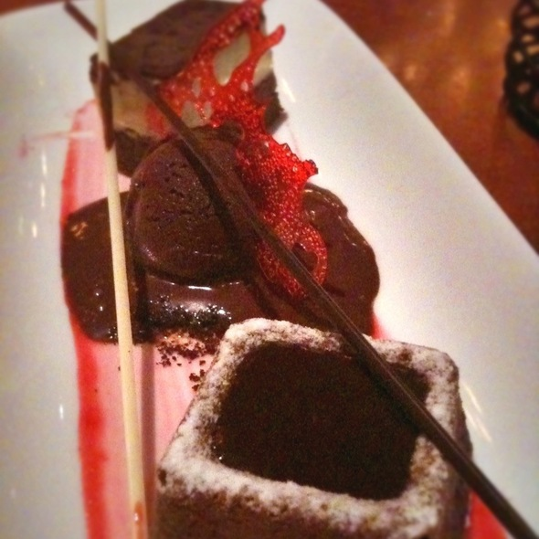 Le Cellier's Trio of Chocolate