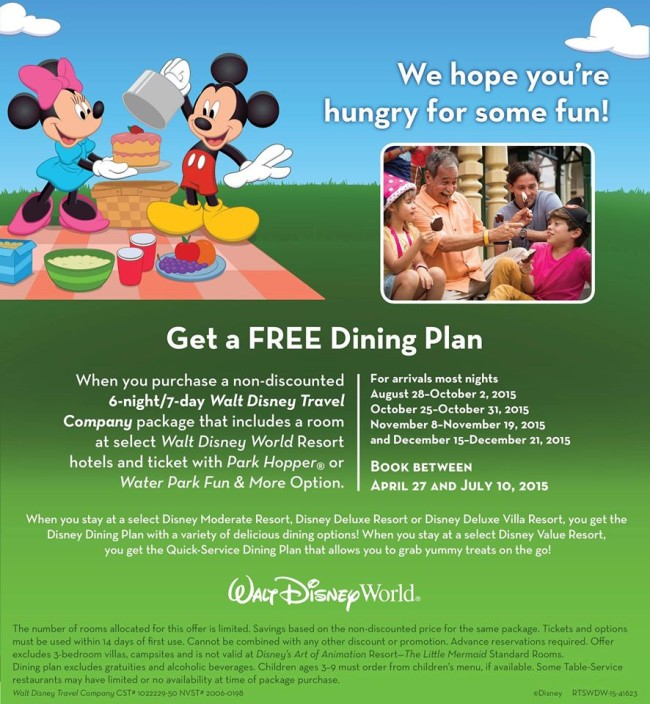 Free Dining Offer