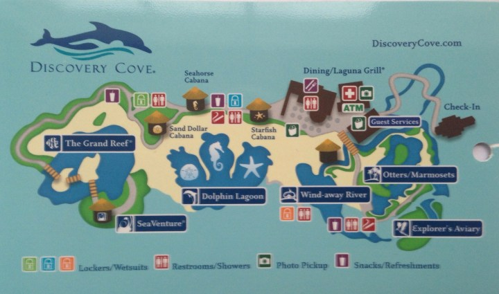 Discovery Cove Map 2