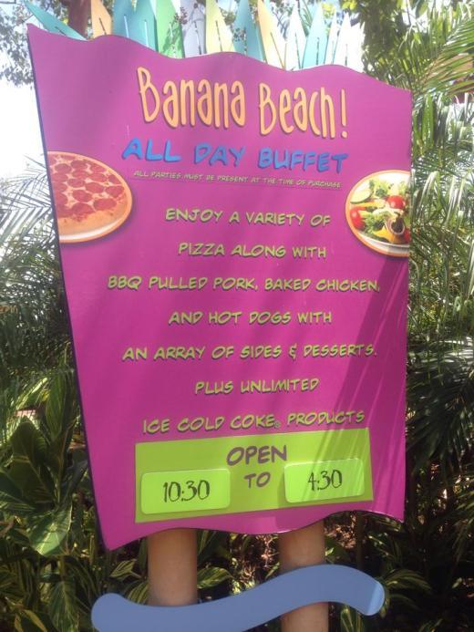 Banana Beach Menu