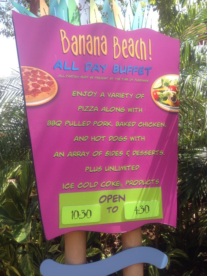 Banana Beach Menu