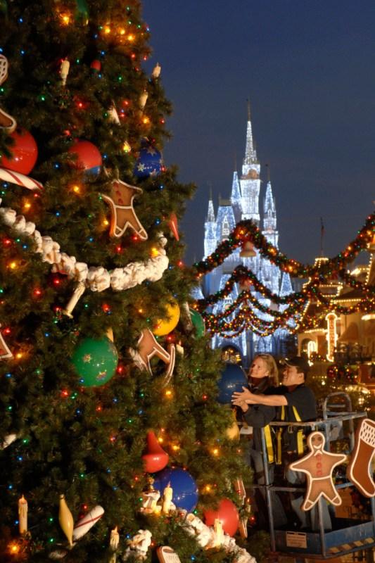 Christmas Tree located on Main Street in the Magic Kingdom. Photo by David Roark/Disney.