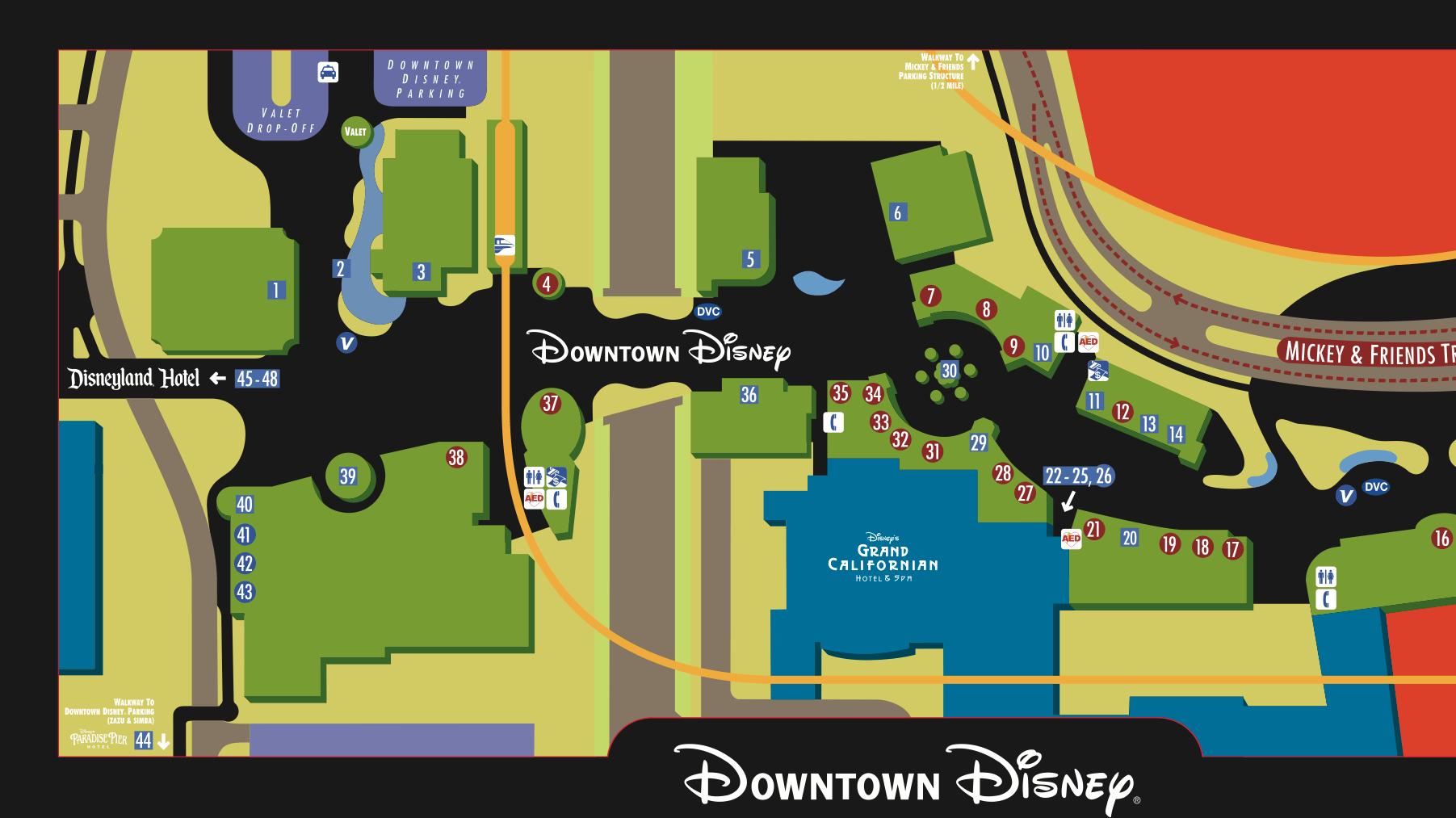 Downtown Disney District Disneyland Resort Magical Distractions