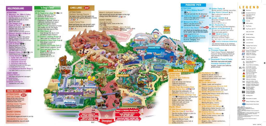California Adventure Park Map