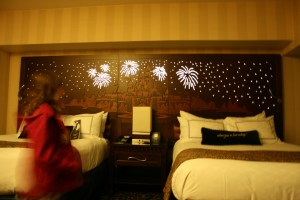 Disneyland Hotel bedroom