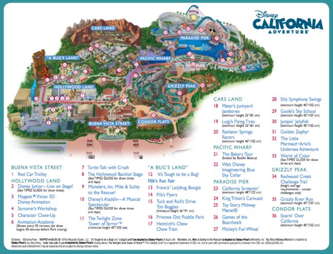 Disney California Adventure® Park Map