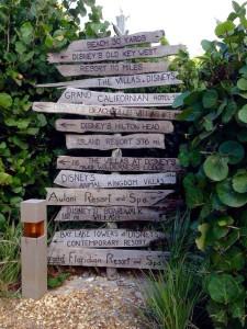Disney's Vero Beach Directional Sign
