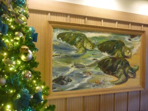 Disney's Vero Beach Resort Lobby artwork featuring turtles