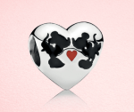 Pandora charm featuring Mickey and Minnie Mouse kissing
