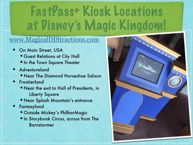FastPass+ Kiosk Locations at Disney's Magic Kingdom Park