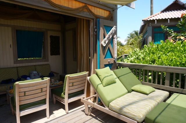 Castaway Cay Private Cabana comfy lounges