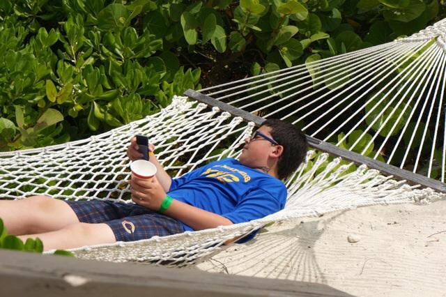 Castaway Cay Private Cabana hammock
