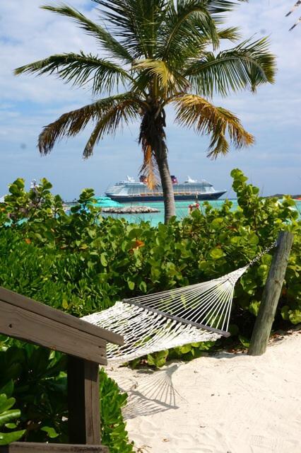 Castaway Cay Private Cabana view of Fantasy