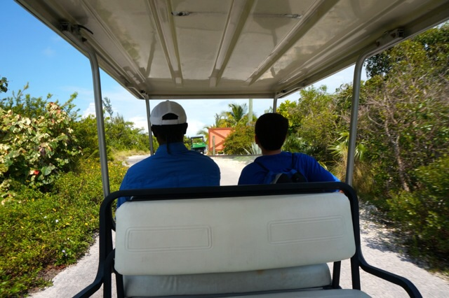 Castaway Cay Private Cabana golf cart ride