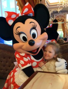 Minnie Mouse and her biggest fan.