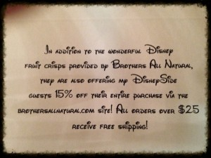 Disney Side party card-Photo by Lisa McBride