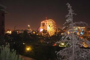 View of Mickey's Fun Wheel at night