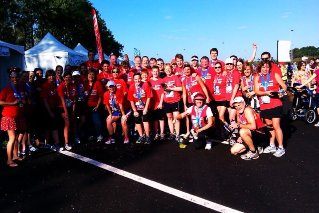 The A-T Children's Project Cure Team for the 2013 WDW Marathon.