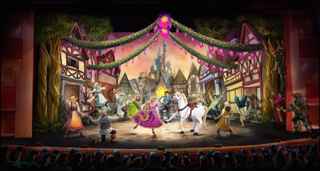 Artist rendering of the stage show Tangled:The Musical. Courtesy of Disney.