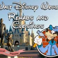 Walt Disney World Refurbishment Updates