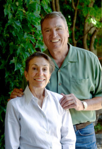 Diane Disney Miller with her husband at Silverado Vineyards