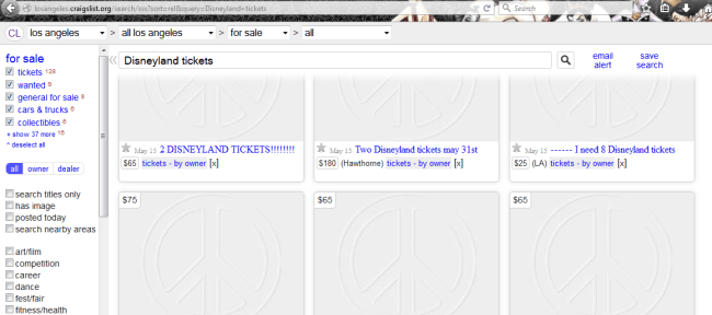 Just a quick search on Craigslist.org pulls up many ads for discounted Disneyland tickets.