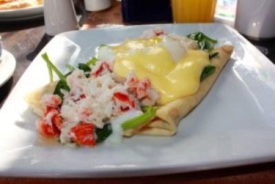 lobster and crab crepe Cinderella's Royal Table-Picture by Mary Ellen Kopp