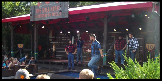 Lumberjack Show in the Canada Pavilion at Epcot-Picture by Lisa McBride