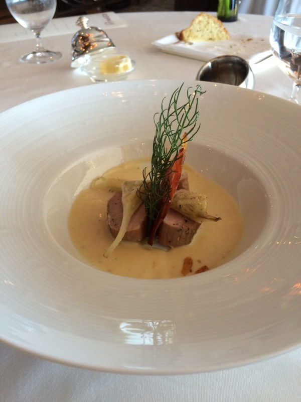 A photo of the pork main dish at Remy