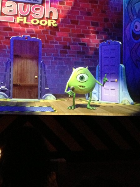Mike Wazowski at Monsters Inc. Laugh Floor