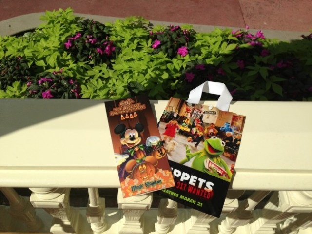 MNSSHP treat bag and map from 2013