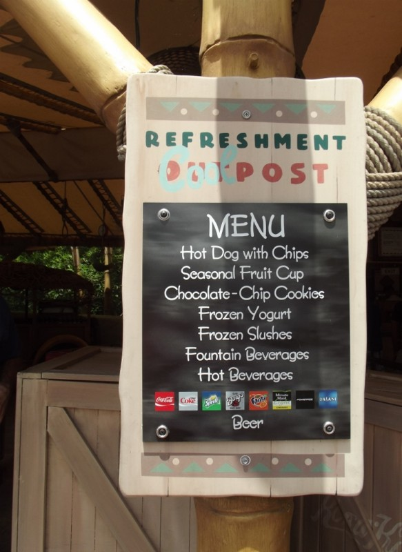 Refreshment Outpost Menu-Picture by Lisa McBride
