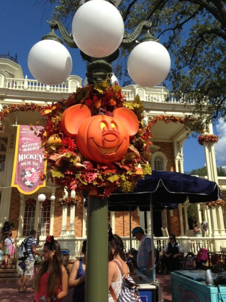 Magic Kingdom decorated for Halloween