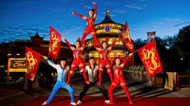 Jeweled Dragon Acrobats - Image by Disney Parks