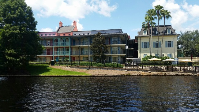 Port Orleans French Quarter as seen from the boat