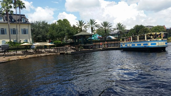 Port Orleans French Quarter boat dock to Downtown Disney