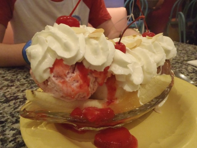 Banana Split at Beaches & Cream-Picture by Lisa McBride