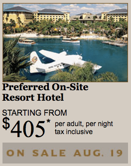 Preferred on-site resort hotel starts at $405 at Universal Orlando Resort.
