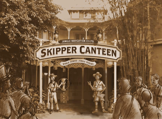 Artist rendering of the NEW Jungle Skipper Canteen. Image courtesy of Disney Parks Blog.