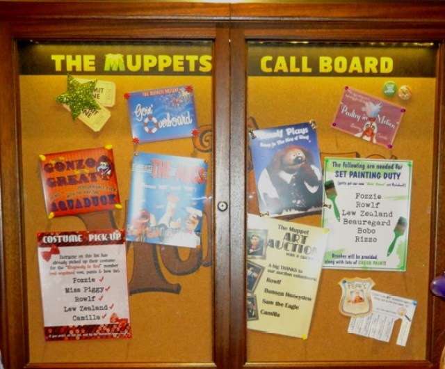 The Muppets Call Board Contains Clues for the Midship Detective Agency: The Case of the Stolen Show
