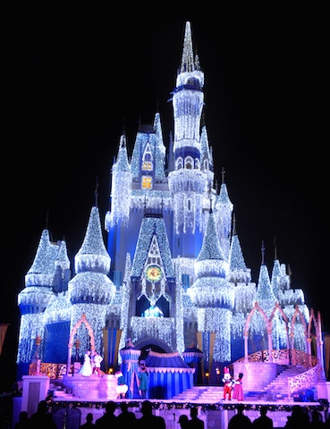 Shimmering lights illuminate Cinderella Castle, Gene Duncan, photographer