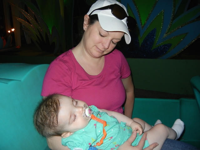 Napped through her first time on It's a Small World